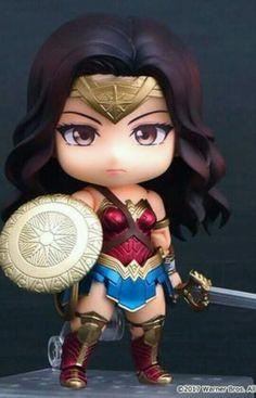 by Miki (nendoroid good_smile_company dc_comics wonder_woman Wonder Woman Art, Wonder Woman Chibi, Anniversaire Wonder Woman, Super Heroine, Toy Art, Anime Figures, Action Figures, Gal Gadot, Princesas Disney
