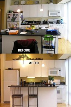 Your Realtor Tip of the day ~ What a difference a little   de-cluttering can make in real estate.  De-cluttering also help   Prepare Your House For Sale In real estate, buyers buy space. The more space you're able to show, whether it be living or storage space, the more you'll be able to sell for.