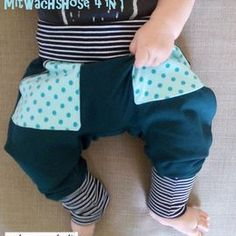 Freebook growing shorts 4 in 1 – pants / bloomers with pockets for babies / children 56 -… - Nähen 4 In 1, Baby Kind, Free Baby Stuff, Sewing For Kids, Twins, Kids Outfits, Gym Shorts Womens, Babys, Children