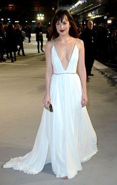 Dakota Johnson's Dress | 50 Shades of Grey UK Premiere | POPSUGAR Fashion