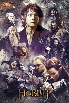 Hobbit: Pustkowie Smauga bohaterowie - plakat - 61x91,5 cm  Gdzie kupić? www.eplakaty.pl