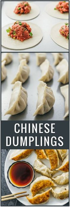 Pan-fried Chinese dumplings recipe, potstickers, pork dumplings, easy dumplings, how to cook dumplings from scratch, beef dumplings, fried, frozen, boil, filling ideas, authentic, homemade, chicken, for soup, asian via @savory_tooth