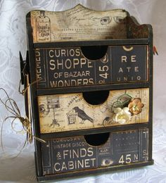 DTGD13Beate - Mini chest of drawers - front by susie australia - Cards and Paper Crafts at Splitcoaststampers
