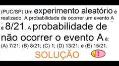 Curso de Probabilidade de não ocorrência de um experimento aleatório Som... https://youtu.be/Ofnme900zVI