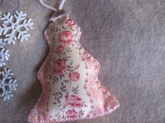 Rose Pink Shabby Chic Fabric Christmas Tree by Georgetown Cottage Crafts