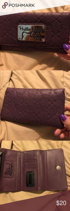 ❗️Purple leather Hello Kitty Wallet❗️ Super cute purple hello kitty wallet. Has lots of pockets. Really functional. Bags Wallets