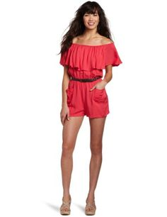 Amazon.com: My Michelle Juniors Belted Romper: Clothing