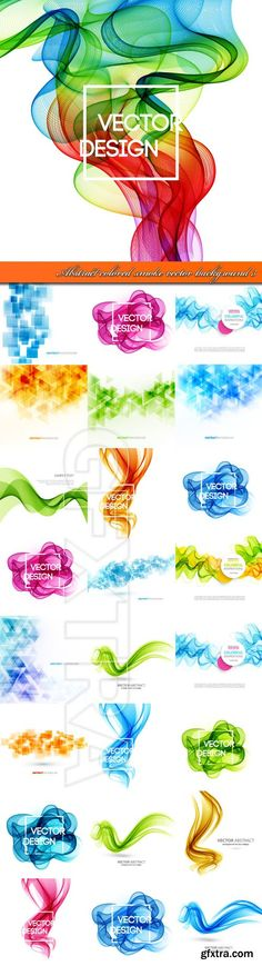 Abstract colored smoke vector background 3