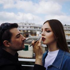 """⠀ And in one """"momento""""...""""the connection of the team!""""⠀ ⠀ This is magic, isn't it? ⠀ ⠀ Thank you @a_marolda for this pic, i love it! ⠀ ⠀ Backstage from shoot for Patrick Mahieu #nogendernoseason ⠀ ⠀ PH: @a_marolda ⠀⠀⠀ Models: @deboragjergji from @nurmodelmgt and @yriaan ⠀⠀⠀ Styling: @patrick_mathieu ⠀⠀⠀ Makeup&Hair by me @carlocapezzera ⠀ ⠀ #caughtintheact #backstage"""