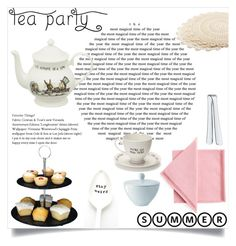 """""""Tea Party"""" by sheetal2002 ❤ liked on Polyvore featuring interior, interiors, interior design, home, home decor, interior decorating, Mrs Moore's Vintage Store, WMF and LSA International"""