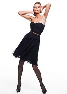 Vestido gasa plisado MNG