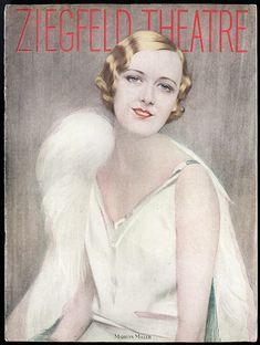 Vintage Nov 1928 Ziegfeld Theatre Showboat Souvenir Program Marilyn Miller Cover
