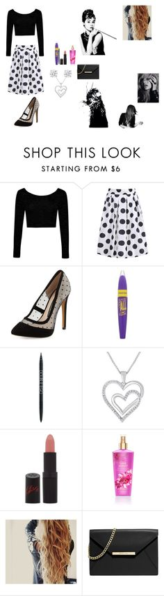"""""""Retro 50's Cat"""" by my-chemical-cowgirl ❤ liked on Polyvore featuring Boohoo, French Connection, Betteridge, Rimmel, MICHAEL Michael Kors, Magdalena and Luxo"""