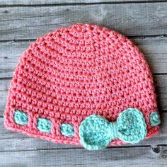 Faux Ribbon Baby Hat - Free Pattern