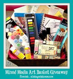 Mixed Media Art Basket Giveaway