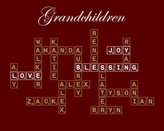 Personalized Modern Family Tree Scrabble Tiles by EpiphanieDesign, $14.95- Great Christmas Gift! Use code BLACKFRIDAY for 10% off