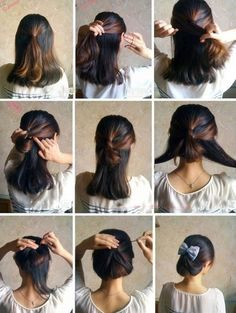 Ponytail ~ Up-do with Bow