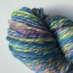 Hand Spun Yarn Pastel Shades Polwarth  by KnitKnacksbySharon