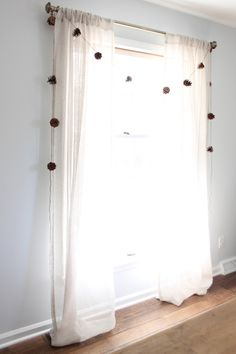 Create a pinecone garland with twine for fall to winter decor