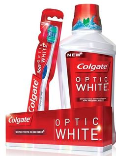 The collection of Colgate® Optic White® products whitens more than 3 shades* and results start in one week. With Colgate® Optic White®, the only accessory you need to look fabulous is your smile. *based on twice daily use for 4 weeks White Smile, Perfume, Spring Makeup, Mouthwash, White Teeth, Sugar And Spice, Teeth Whitening, Your Smile, Spices