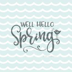 Hello Spring SVG Vector File. Cricut Explore & more. Hello Spring Easter Happy Easter Spring Is In The Air Blessings Spring Has Sprung SVG