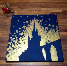 Tale as Old as Time...  A lovely, hand painted picture inspired by the Beauty and the Beast castle (one of my favorite Disney movies of all time)! This is painted on durable pine wood, measures 12 square, and comes ready to hang and display in your home! A lovely gift for the Princess in your life! I can customize this design using ANY color combo you can dream up! Just let me know what colors you would like in the Notes to Seller area at checkout, or send me a message on here. Check out my…