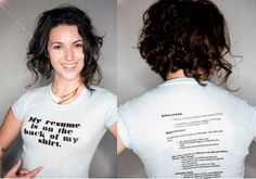 Putting your resume on your shirt.