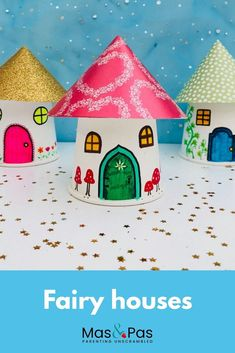 fairy house Make magical fairy houses from paper cups. A lovely fairy craft for kids.Make magical fairy houses from paper cups. A lovely fairy craft for kids. Fairy Houses Kids, Fairy House Crafts, Arts And Crafts House, Fairy Tale Crafts, Craft House, Paper Cup Crafts, Paper Crafts For Kids, Crafts For Teens, Paper Cups
