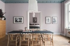Benjamin Moore Porcelain ($37) This new color by Benjamin Moore is an almost gray, dusty pink tone that looks moody and modern, especially when paired with a contrasting trim color.