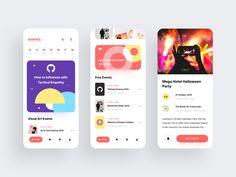 Event App Concept by Anton Mikhaltsov for Awsmd on Dribbble Ux Design, Graphic Design, Event App, Ui Design Inspiration, Design Ideas, Mobile Ui Design, Ui Web, Apps, User Interface Design
