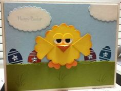 Easter Chick punch art, Stampin Up!