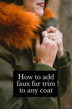 Give your parka an instant makeover (no sewing machine needed). This faux fur trim attaches to any hood or collar with super-strong magnets. Super Strong Magnets, I Love Winter, Fur Trim, Parka, Faux Fur, Autumn Fashion, Sewing, My Love, Capsule Wardrobe