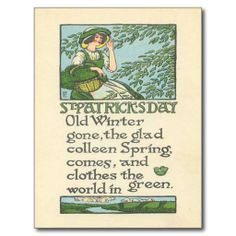 ==> reviews          	Vintage Colleen Spring Shamrock St Patrick's Day Post Card           	Vintage Colleen Spring Shamrock St Patrick's Day Post Card you will get best price offer lowest prices or diccount couponeHow to          	Vintage Colleen Spring Shamrock St Patrick's Day Po...Cleck Hot Deals >>> http://www.zazzle.com/vintage_colleen_spring_shamrock_st_patricks_day_postcard-239347956854020320?rf=238627982471231924&zbar=1&tc=terrest