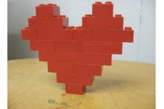 lego/duplo love - how to make a heart of Valentine's day.want to do a lego session with Logan for his birthday Lego Duplo, Legos, Modele Lego, Lego Valentines, Crafts For Kids, Diy Crafts, Activities For Kids, Van Lego, Lego Club