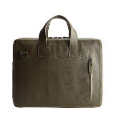 Green leather workbag for men. Leather Laptop Bag, Leather Briefcase, Leather Bag, Green Leather, Soft Leather, Briefcase For Men, Work Bags, Fashion Bags, Messenger Bag
