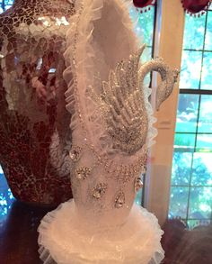 Swan lake decorated pointe shoe