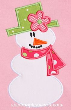 Snowman stick arms Applique Design It is not actually the pictured design.  It is the boy version of this. - christmas winter