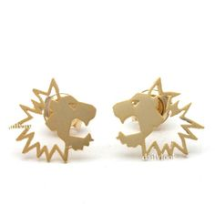 #lion earrings, lion studs, tiny earrings, #animal earrings, animal studs, cute earrings, man studs, unique studs, lion, animal