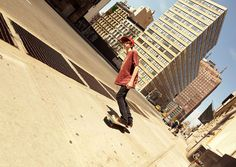 Disorienting Portraits of People Walking About in a Tilted World