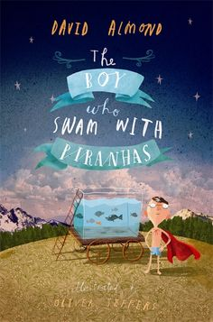 The Boy Who Swam With Piranhas by David Almond. On the new-to-us chapter & YA shelf at CTX Library