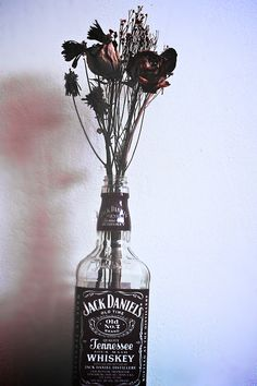 flowers, jack daniels, and rose kép