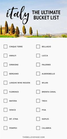 The Ultimate Italy Bucket List: Top 20 Places to Visit in Italy Before You Die   Italy Travel Guide   First Timer's Guide to Visiting Italy   Italy Vacation   Best Places to See in Italy   Europe Vacation   Travel to Italy #italy #travel #europe #LivinginItaly #TravelinItaly #VisitingItaly #PlacestogoinItaly #VacationsinItaly