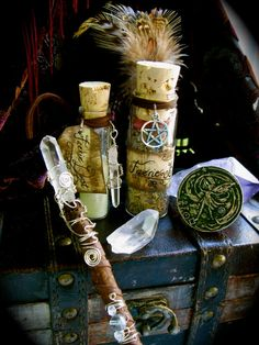 Faery Blessing Kit - Wand, Herbal Blend, Magic Dust and Faery Coin by EireCrescent