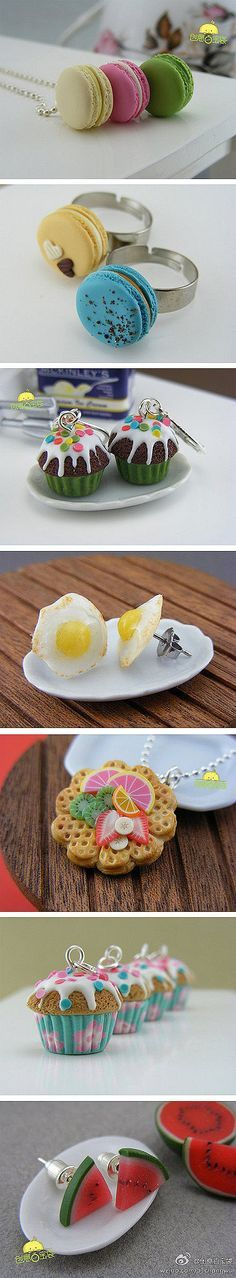 Dessert jewelry! How amazing! I am going to live by this from now on. I wish they were edible.