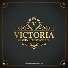 Etiqueta Luxury Hotel Vetor grátis