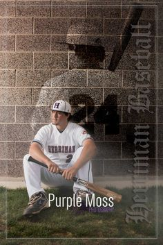 Herriman Utah High School Baseball Senior Team Individual Poster Field Ghost Purple Moss Photography Photo Image