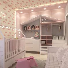 De quarto de bebê a quarto de menina ➡Detalhes do projeto ---- @figueiredo_fischer Baby Bedroom, Baby Boy Rooms, Little Girl Rooms, Baby Room Decor, Nursery Room, Girls Bedroom, Bedroom Decor, Deco Pastel, Baby Changing Tables
