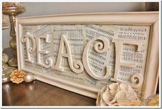 Vintage Paper Peace Sign-what a delightful addition to our Christmas decorating.