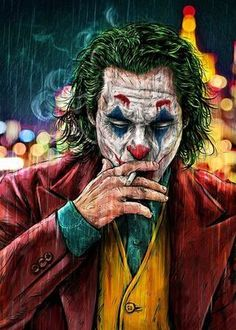 «Smoking Joker Pt.1» Art Print by JustCallMeAcar - Limited Edition from $29.9 | Curioos