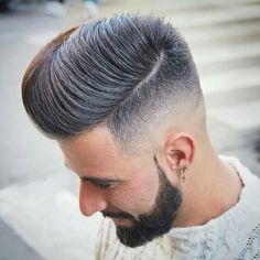 Comb Over with Low Skin Fade